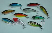 Lots of New 10pcs 70mm 8g Fishing Hard Lures Vibration VIB Lipless Hook Tackle Bass Trout