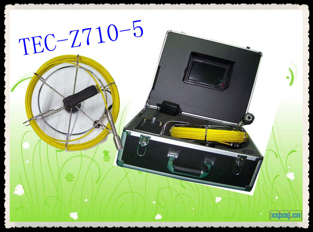 high quality professional mini 6mm camera pipe inspection camera system TEC-Z710-5 with 60 degree view angle(China (Mainland))