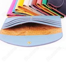 Card Holder Purse Women Clutch Wallet Ladies Korean Style PU Leather Fashion Buckle Hasp Female Mini Handbag Multi Color 0763(China (Mainland))