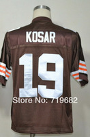 Free Shipping Bernie Kosar #19 Throwback Football Jersey,Embroidery and Sewing Logos,Size M--3XL,Accept Mix Order