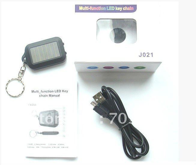 Free shipping 8pcs/lot New Arrival J021 Multi-function LED Key Chain Camera(China (Mainland))