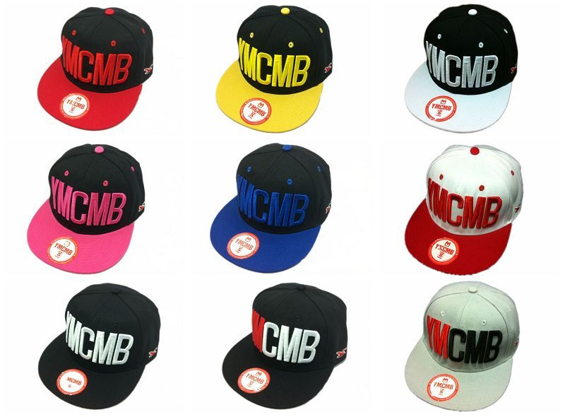 Ymcmb back button baseball cap casual hiphop hip-hop cap embroidery ny flat bill snapback adjustable Free shipping!!!(China (Mainland))