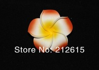 Orange color foam frangipani flower, hawaii plumeria free shipping