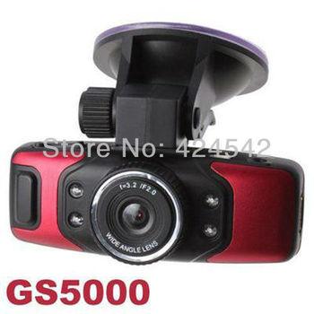 2013 Hotest 1080P HD GS5000 30fps Night Vision Car DVR Recorder Camera+ GPS Track G-Sensor Free Shipping