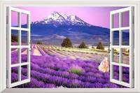 HD Pattern Simulation Lavender Manor  window sticker 70*46cm sofa background bedroom pvc wall sticker  FJ-281