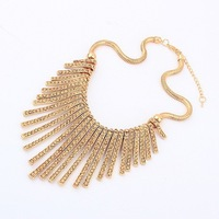 Min.order is $10 (mix order) Chic Popular Cool Metal Tassels necklace choker necklace wholesale Free shipping! N1039