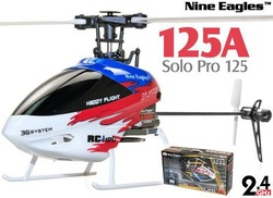 Nine Eagles SOLO PRO 125 6CH Mini Flybarless 3D Helicopter with J6 PRO Radio(China (Mainland))
