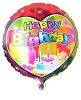 Free shipping ,10pcs/lots 18 inch round shape happy birthday balloon ,foil balloon