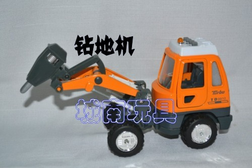 Hot-selling toy car WARRIOR car alloy car model mechanical engineering car luminous vocalization 6(China (Mainland))