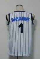 #1 Penny Hardaway Men's Authentic Home White Throwback Basketball Jersey