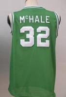 #32 Kevin McHale Men's Authentic Road Green Throwback Basketball Jersey