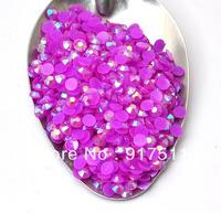 2000pcs 3mm PURPLE acrylic flatback resin AB rhinestone cabochon glitter 3D nail art supplies diy phone case decorations