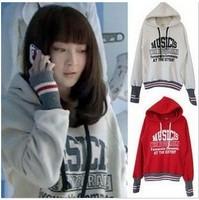 TOP SALE ! AS-095 2014 Woman fashion Sweatshirts Fleece Hoodies Coat letter Jackets outerwears FREE SHIPPING