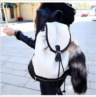 Free shipping--Korean Institute of plush lovely new backpack,backpacks for school