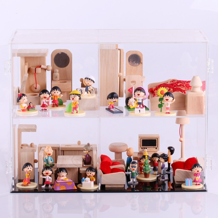 Diy set furniture transparent acrylic display case display box(China (Mainland))