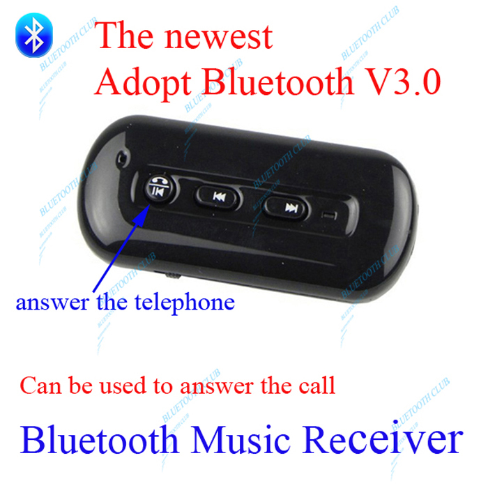 Free Shipping Bluetooth Music Receiver Bluetooth 3.0+Answer call 3.5mm Stereo Easy to get Bluetooth speaker Bluetooth headphone(China (Mainland))