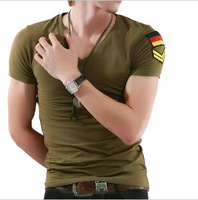 Lycra cotton armband male summer casual basic short-sleeve T-shirt t012