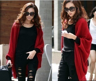 Classic Spring Autumn Women's Medium-Long THIN TYPE Cardigan Cape Wraps Loose Plus Size Sweater Tops knitting outerwear Blouse
