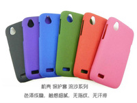 Free Shipping!! High Quality Plastic Back Shell Cover for HTC Desire X T328e Quicksand Matte Hard Back Case HTC-017