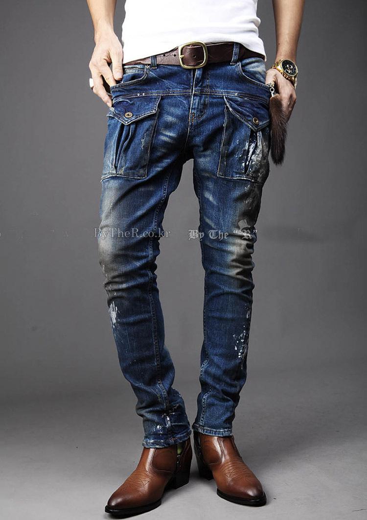 2013 новый мужской моде ноги карман деко