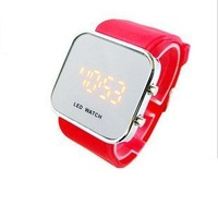 ,high quality ,led Mirror watch,silicone watch, Mirro wrist quartz watch ,retaiL