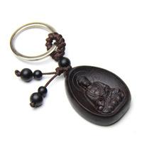 Bodhisattva ebony zodiac dog keychain pig animal buddha apotropaic