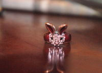 2013 fashion  retro. vintaged rabbit ring ornament  free shipping  free gift(Min.order $10)