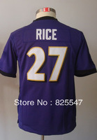 #27 Ray Rice Kids Youth Game Team Purple Football Jersey