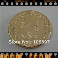 1pieces / lot 1886 Alexander III 10 Roubles Gold clad Replica Russian Souvenir coins