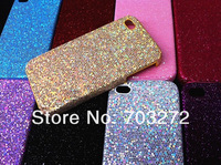 NEW Assorted Color SPARKLING Glitter Bling Leather hard Case Cover Skin for apple iPhone 4 & iPhone 4S Flash Power 50pcs/lot