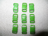 1000pcs/lot   3/8(10mm)   green plastic paracord buckle free shipping