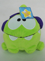 CUT THE ROPE OM NOM DJ BOX 8 INCH PLUSH TOY W/ SOUND NWT