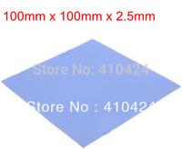 Blue Thermal Pad GPU CPU Heatsink Cooling Conductive Silicone 100mm*100mm*2.5mm FREE SHIPPING