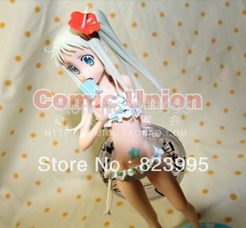 NEW   ANOHANA   Anime peripheral  Honma Meiko  sexy    swimsuit   figure  PVC  23.5CM
