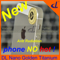 Anti Radiation Sticker 2013 New Fashion Gift Nano Ion Titannium Phone Accessories DL Nano PhoneCool Free Shipping