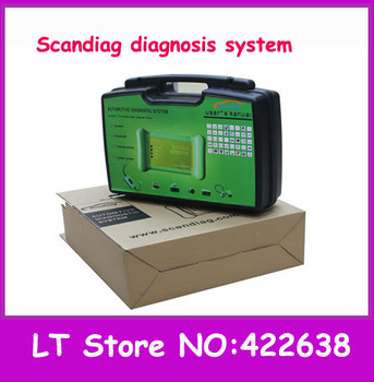 Original universal car diagnostic tool-- scandiag box complete set version with bluetooth update online