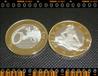 Newest 1pcs/lot High quality t Sex Euro Toned coin silver and gold clad commemorative  coin
