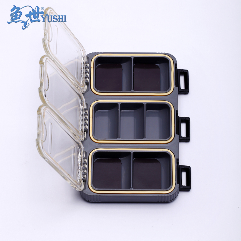 Fish single face belt magnetic accessories box waterproof seal strip magnetic accessories box fishing hook box lure accessories(China (Mainland))