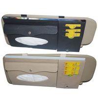 Car multifunctional cd bag car tissue box car cd folder genuine leather two-site sun-shading board cover