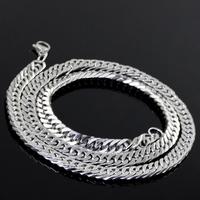 Male titanium quadripartite steel necklace anti-allergic fashion accessories the trend of male