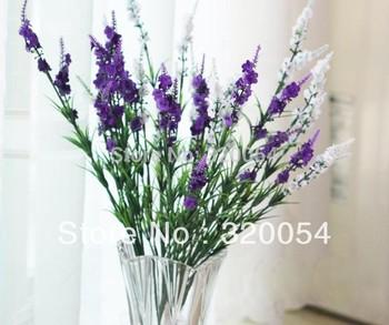 Free shipping,5pcs/lot,9 head lavender, Provence lavender,artificial silk flowers, 5 color, home decoration, wholesale.
