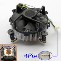 FREE SHIPPING Aluminum+Copper 4PIN 12V CPU COOL COOLING HEATSINK PC COOLER FAN SUPPORT Intel 1PC #FS046