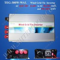 Grid Tie 300W Wind Inverter, 3hase AC 22v-60v input to  AC 90V-130V, 50Hz or 60Hz, Pure Sine Wave Inverter