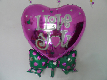 "PT0049 Big 32"" Inch Wedding Valentine Balloon, Cool Green Polka Bow Tie Balloon, 10pcs/lot, free shipping"