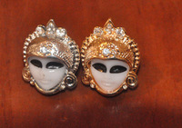 2013fashion facial mask/makeups face  ring  rhinestone ornament  free shipping  free gift(Min.order $10)