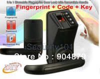 NEW ADEL LS911 Black LS9 Biometric Fingerprint Password Door Lock L/R Handle /S1 Finger+Keypad password Code Lock Security Lock