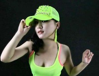 Rivet spiky fluorescence  Baseball Ball Cap studed hat  Hip Hop Dance Show Party Hat