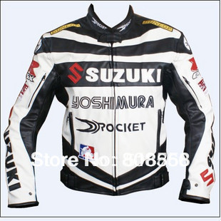 Free shipping 1PC PU Leather jacket.Motocross,racing,motorcycle,motorbike,bicycle,motor jacket / clothing Black(China (Mainland))