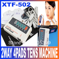 XFT502 Full Body Massager Machine Back Shoulder Neck Body Muscle Therapeutic Apparatus 2WAY 4PADS