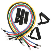 2pic/lot NEW training system +11set + pulling rope, elastic rope pull rope + + resistance exercise bands